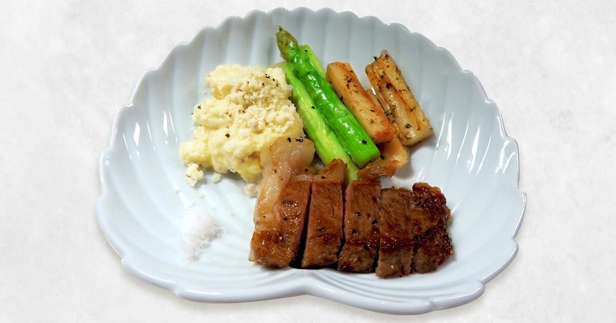 羊ロースのステーキ