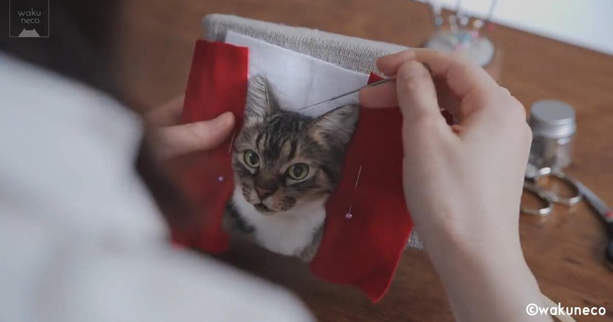 猫(こーちゃん)の姿が羊毛フェルトで