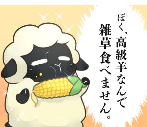 ぼく、高級羊なんで雑草食べません